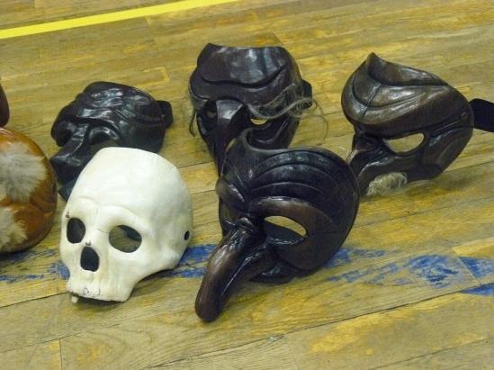 Verschiedene Masken der Commedia Dell'Arte