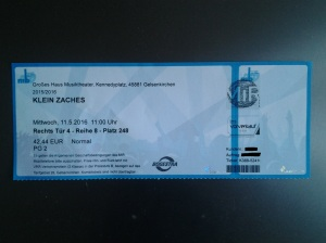 Blog Oper-Eintrittskarte
