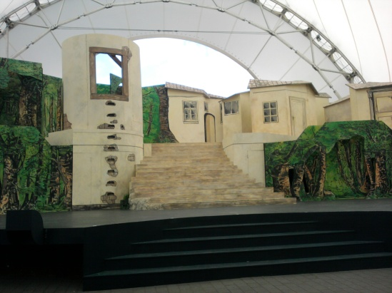 Bühnenbild Rapunzel